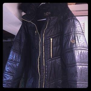 Michael Kors NWOT black hooded jacket